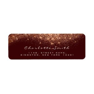 Glitter RSVP Copper Rose Gold Maroon Bridal Makeup