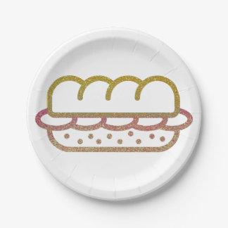 Glitter Sandwich Paper Plate