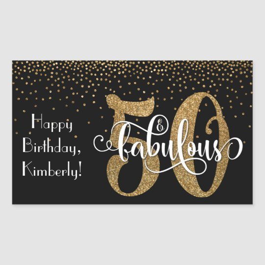 Glitter & Script 50 & Fabulous Happy Birthday