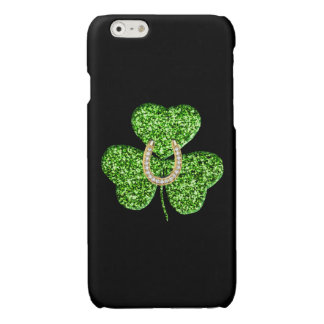 Glitter Shamrock And Horseshoe iPhone 6 Case iPhone 6 Plus Case