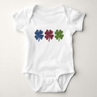 Glitter Shamrocks Baby Bodysuit