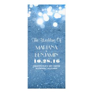 glitter shimmer blue string lights program 10 cm x 23 cm rack card