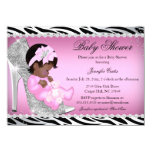 Glitter Shoe Baby Girl Baby Shower Ethnic 11 Cm X 16 Cm Invitation Card