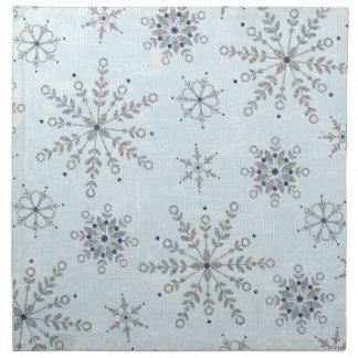 Glitter Snowflakes Napkins