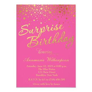 Glitter Sparkle Surprise Birthday Invitation