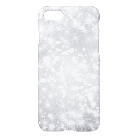 Glitter Sparkly Grey Silver iPhone 8/7 Case