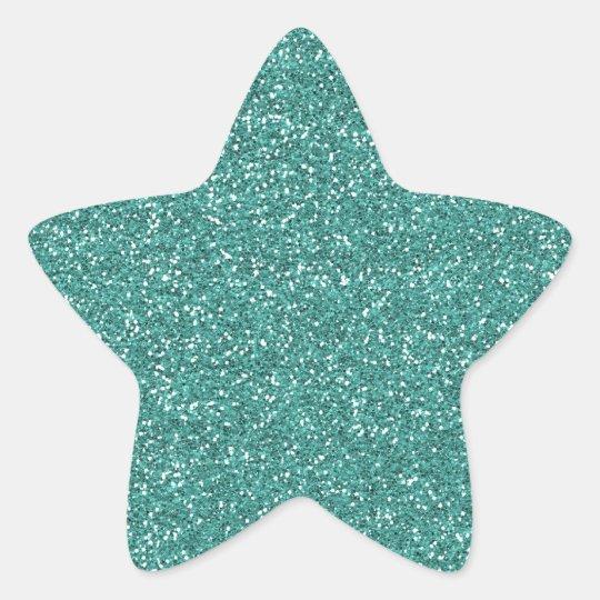 GLITTER STAR BABY SHOWER STICKER