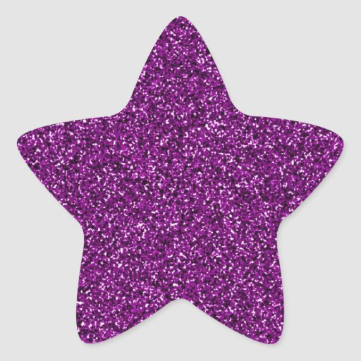 GLITTER STAR STICKER