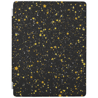 Glitter Stars3 - Gold Black iPad Cover