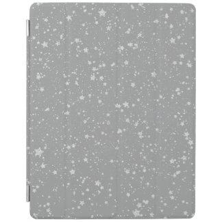 Glitter Stars4 - Silver iPad Cover