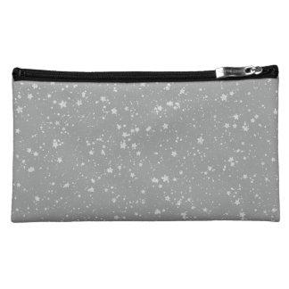Glitter Stars4 - Silver Makeup Bag