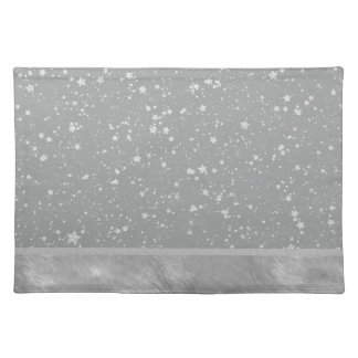 Glitter Stars4 - Silver Placemat
