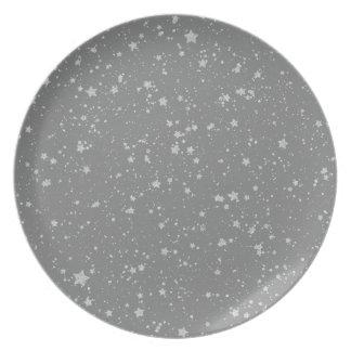 Glitter Stars4 - Silver Plate