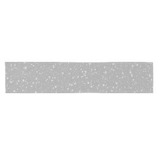 Glitter Stars4 - Silver Short Table Runner