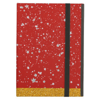 Glitter Stars - Silver Red Case For iPad Air