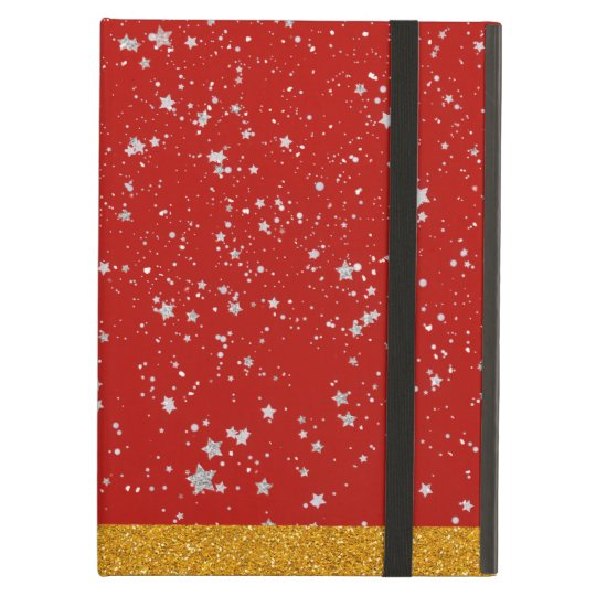 Glitter Stars - Silver Red Case For iPad