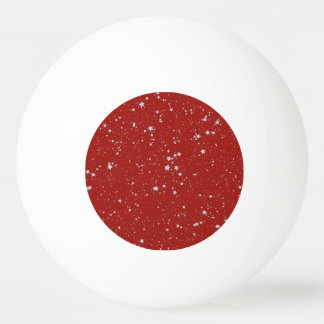 Glitter Stars - Silver Red Ping Pong Ball