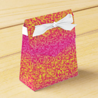 Glitter Stripes Pink-Yellow-PARTY FAVOR BOX,tent Wedding Favour Box