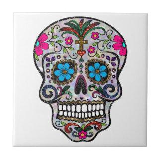 glitter Sugar Skull Tile