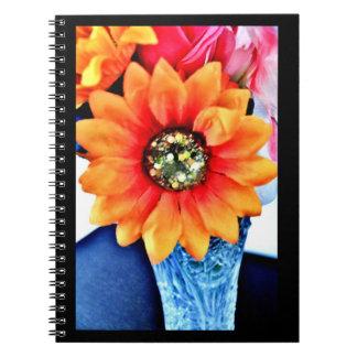 Glitter Sunflower Notebook