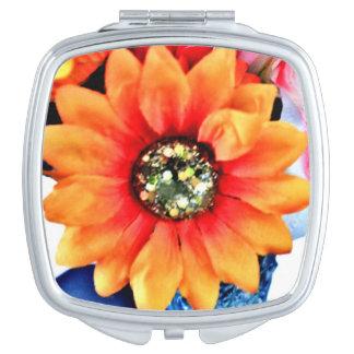 Glitter Sunflower Vanity Mirrors