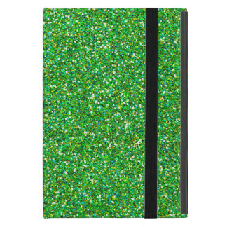 Glitter Texture, Sparkling Glitter - Green iPad Mini Case