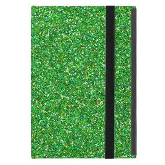 Glitter Texture, Sparkling Glitter - Green iPad Mini Cover