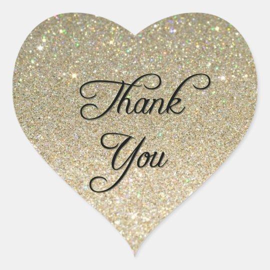 Glitter Thank You Sticker