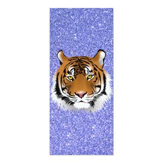 Glitter Tiger 10 Cm X 24 Cm Invitation Card