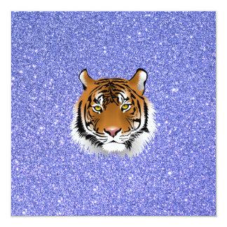 Glitter Tiger 13 Cm X 13 Cm Square Invitation Card