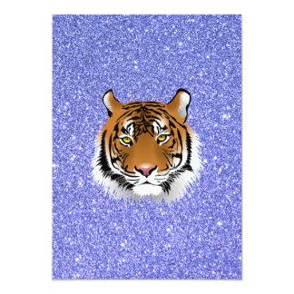 Glitter Tiger 13 Cm X 18 Cm Invitation Card