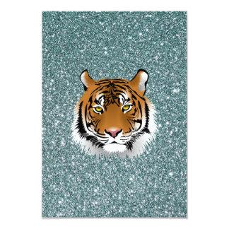 Glitter Tiger 9 Cm X 13 Cm Invitation Card