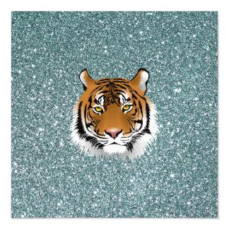 Glitter Tiger Magnetic Invitations