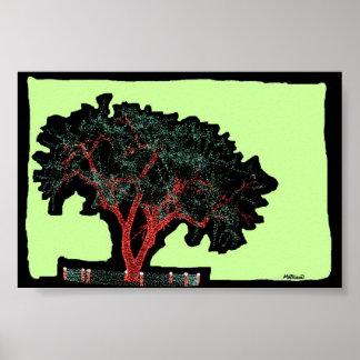 """"""" Glitter Tree """" Print"""