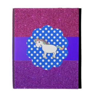Glitter unicorn iPad case
