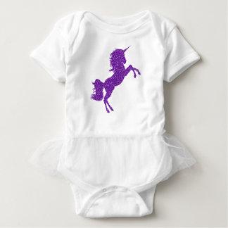 Glitter Unicorn Purple Baby Tutu Romper Girls Baby Bodysuit
