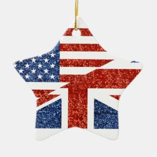 glitter usa uk ceramic star decoration