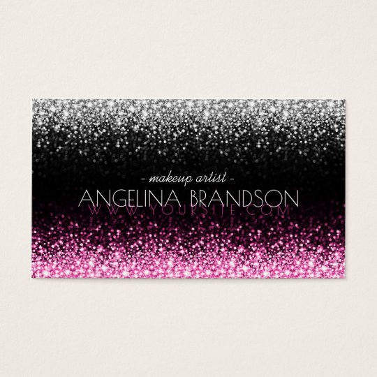 Glitter White & Pink Star Rain Makeup Artist