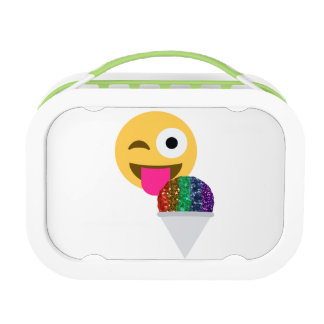 glitter wink emoji lunchbox lunch box