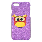 Glitter with Owl iPhone 8/7 Case