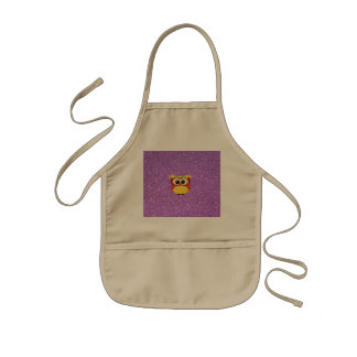 Glitter with Owl Kids Apron