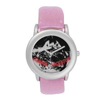 Glitter with Pink Glitter Strap Wrist Watch