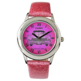 Glitter with Pink Glitter Strap pink caddy watch