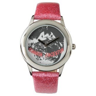 Glitter with Pink Glitter Strap Watch