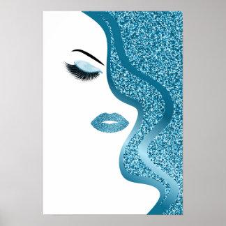Glitter woman poster