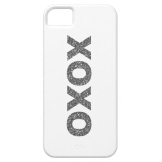 Glitter XOXO Silver iPhone 5 Covers