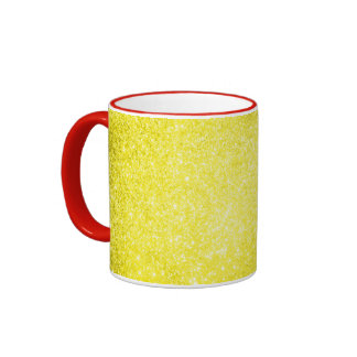 Glitter Yellow Coffee Mug