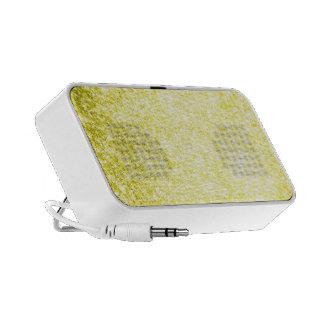 Glitter Yellow Notebook Speakers