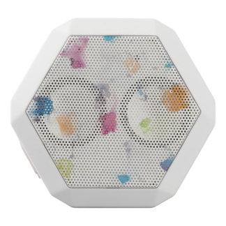 Glitterati I Abstract Print   Mike Schick White Bluetooth Speaker