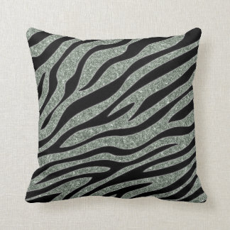 Glittered Zebra Print Cushion